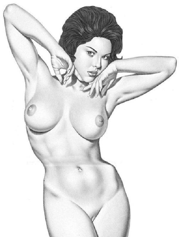 рисованные голые девушки простым карандашом фото