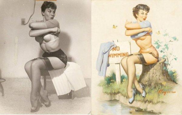 Пин-ап девушки и их реальны прототипы (9 фото)