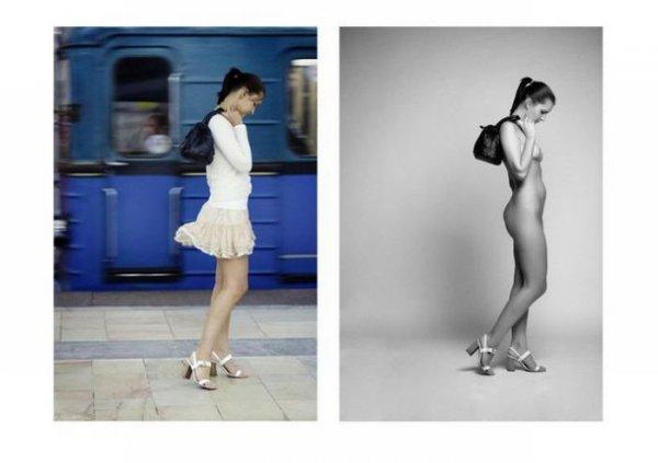 В одежде и без (8 фото) НЮ