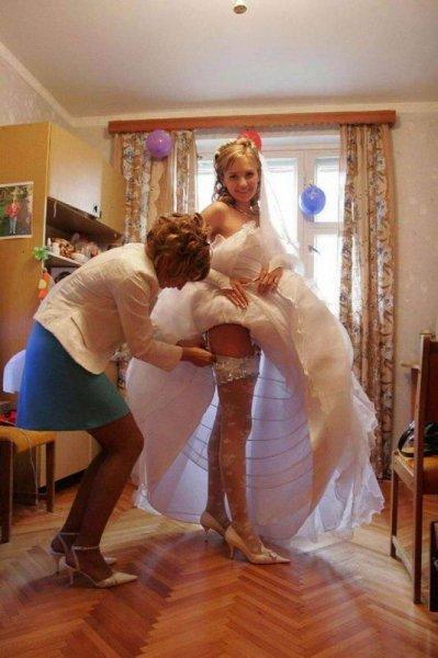 Сексуальные фотографии невест (34 фото)